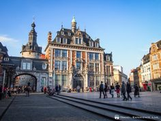 Public square and belfry in Namur, Belgium