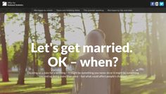 Let's get married. OK - when? Office of National Statistics