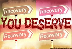 You deserve recovery. #eatingdisorder #recovery