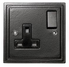Black Single Socket