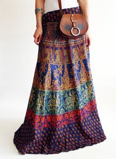 Vintage 1970s Indian hippie skirt @ www.secondhandnew.nl