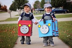 Halloween Costume Box Train Not Included Train by AllAboardWhistle Toddler Boy Halloween Costumes, Baby Halloween, Brother Halloween Costumes, Train Party Decorations, Toy Story, Costume Box, Train Costume, Halloween Disfraces, Holidays Halloween
