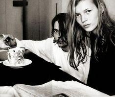 Johnny Depp and Kate Moss enjoy #tea