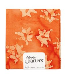 Quarters Assorted Batik Cotton Fabric-Orange
