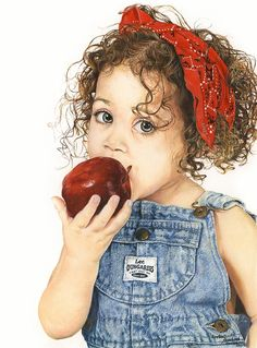 "'THE RED APPLE'    by Lindsay Handyside   Watercolor 10"" x 8"""