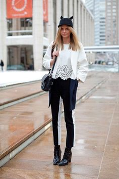 Streetstyle during New York Fashion Week, Fall 2013