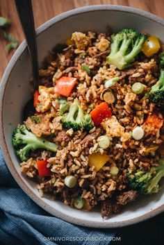 This easy beef fried rice uses a bold seasoning of chili and cumin. It requires very little prep and only takes 10 minutes to cook. A one-pan dish that's satisfying enough to serve as a main for dinner, or packed into your lunch box for meal-prep, or can be served as a fancy side for your Chinese dinner party. {Gluten-Free adaptable}