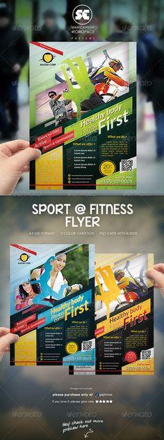 Ad Sports, Sports Flyer, Fitness Flyer, Fitness Brand, Flyer Poster, Lato Font, Design Social, Advertising Design, Advertising Ideas