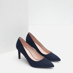 dc7d7ff980 Image 3 of HIGH HEEL COURT SHOE from Zara Navy High Heels, Court Shoes,