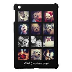 Photo Collage with Black Background iPad Mini Cases