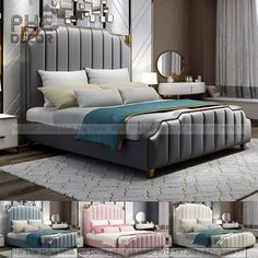 Bed Images, Headboards For Beds, Dress Designs, Beautiful Homes, Bedroom Ideas, Master Bedroom, Mood, House, Furniture