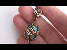 BeadsFriends: Beaded earrings made using Seed beads and turquoise pearls