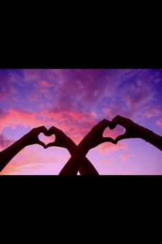Two hand hearts.