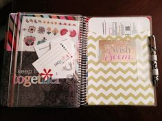Erin Condren Life Planner - back page with large pocket #eclifeplanner14