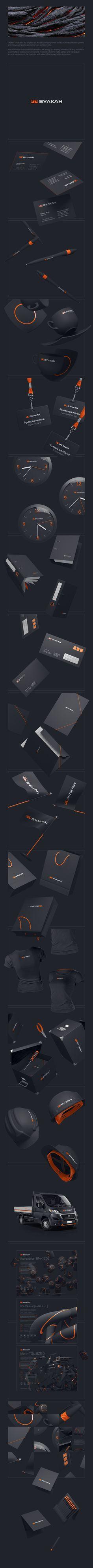 Vulkan by Denis Ulyanov, via Behance #logodesign #logo #logotype #design #branding #logoped #Russia