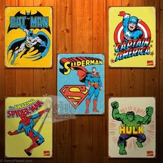 I love the tin signs for a boy's room...Noah has the Batman one...love the others, too!!!