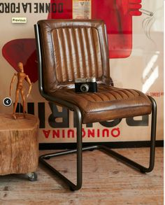 retro leather padded office chair by brush64 wwww.brush64.co.uk