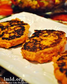 Sweet Potato Patties -  a new way to enjoy sweet potatoes #lmldfood