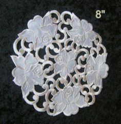 """Cream Rose Doilies,size 8"""", 12"""",16"""", or 24"""", Selected By Clicking """"4 New"""" Beside the Product Photo by Doilies series, Cream rose. $2.23. European Style. Machine washable, cold or warm. prefer hang-on dry. 100% Polyester. Various sizes in the stock. 8"""", 12"""", 16"""", 24"""""""
