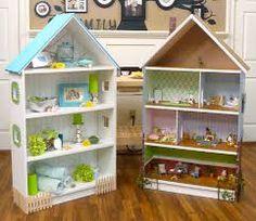 Image result for cardboard doll house