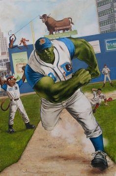Incredible Hulk in a Durham Bulls uniform? Yes please!