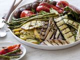 {grilled vegetables with a fresh herb vinaigrette}
