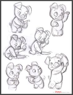 Little Pig Concepts by chewgag Little pig rough concepts