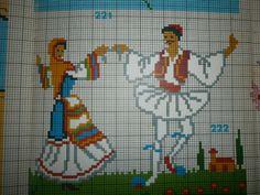 Folk Embroidery, Vintage Embroidery, Cross Stitch Embroidery, Embroidery Patterns, Cross Stitch Patterns, Greek Design, Stitch 2, Summer Crafts, Handicraft