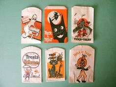 This Item Is RESERVED 18 Vintage Halloween Treat Bags