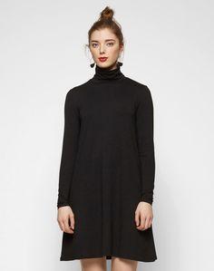 Rollkragen-Kleid 'Viofficiel'