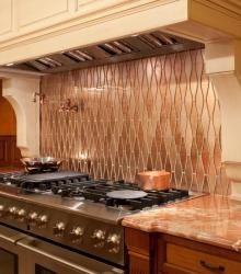 Custom Kitchen Backsplash Ideas Kips Bay Kitchen Custom Cut Copper