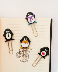 Christmas paper clip set penguins, Christmas bookmark penguins, funny set of paper clip four penguins, Christmas gift penguins book mark! Christmas its time of magic and surprises, time of smiles and cute Gifts ))) And who does not like a little penguin - who dressed in funny clothes - we associate with the holiday and a miracle! I make this special collection for this magic Christmas, for make a happy children - who will like too much uses this small paper clip for books or deary. Or for…