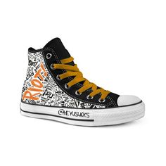paramore riot converse found on Polyvore