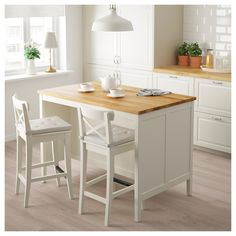 TORNVIKEN Kitchen island, off-white, oak. The TORNVIKEN series is ideal when you need more workspace, more storage ‒ more kitchen. Combine a kitchen island with shelves to create a rustic kitchen where you can cook together. Kitchen Island Trolley, Kitchen Island With Seating, Free Standing Kitchen Island, Kitchen Island For Small Kitchen, Floating Kitchen Island, Portable Kitchen Island, Kitchen Yellow, Skinny Kitchen, Slender Kitchen