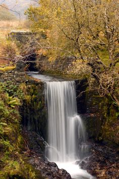 A Waterfall near Thirlmere in the Lake District Moon Over Water, Road Trip Uk, Beautiful Waterfalls, English Countryside, Cool Landscapes, Lake District, Landscape Photography, Cool Pictures, Beautiful Places