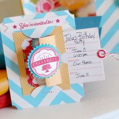 Pull-out Invitation by Betsy Veldman for Papertrey Ink (March 2012)