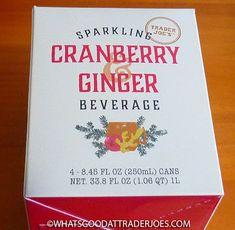 What's Good at Trader Joe's?: Trader Joe's Sparkling Cranberry & Ginger Beverage Lime Wedge, After Christmas, Cocktail Glass, Trader Joes, Vodka, Beverages, Sparkle, Trader Joe's