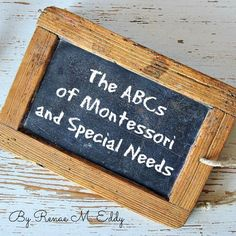 The ABCs of Montessori and Special Needs #affiliate #montessori #specialneeds #homeschooling #specialeducation