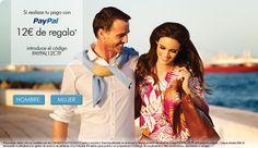 12€ de descuento by @expotienda en todos los productos de la tienda Cortefiel (ver imagen) y pagas con PAYPAL http://cortefiel.com/