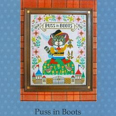Shop | Category: Gera by Kyoko Maruoka | Product: Gera Cross Stitch - Puss in Boots