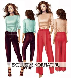 Дефекты посадки брюк Clothing Patterns, Sewing Patterns, Couture, Pallazo Pants, Modelista, Diy Fashion, Fashion Design, Pants Pattern, Sewing Techniques