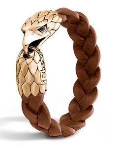 Men's Bronze Eagle Head Bracelet, Size: M - John Hardy