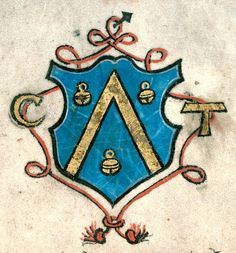 Armes de Claude Taxilis, commanditaire (p. 14). -- Collectaire à l'usage d'Aix-en-Provence, France, 1554 [BM d'Aix-en-Provence, Ms. 0012]