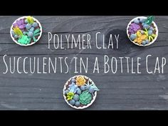 ✿ Polymer Clay Succulents in a Bottle Cap Tutorial ✿ - YouTube