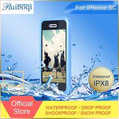 Aliexpress.com: Comprar Para el iPhone 5C estuche estanco al agua altamente resistente al agua para el iPhone 5C caso de la cubierta de tierra a prueba de golpes de silicona de protección del teléfono bolsos y cubierta de teléfono de fondo fiable proveedores en Ruiboqi Waterproof Phone Cases