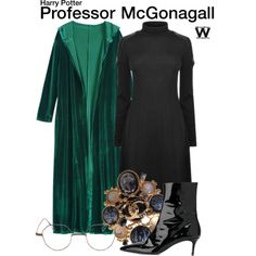Inspired by Maggie Smith as Professor McGonagall in the Harry Potter film franchise.
