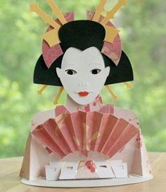 geisha bunraku finger-key puppet