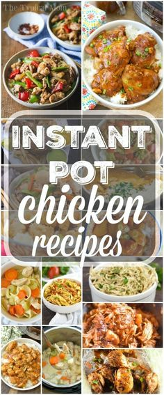 Here are a bunch of easy Instant Pot chicken recipes! We love this fancy pressure cooker and chicken can be cooked in no time, really healthy too! via @thetypicalmom #instantpot #pressurecooker #chicken