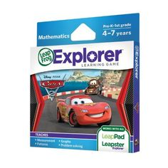 LeapFrog Explorer Learning Game: Disney-Pixar Cars 2 (works with LeapPad & Leapster Explorer) by LeapFrog, http://www.amazon.com/dp/B004MWN0Y0/ref=cm_sw_r_pi_dp_kqHBqb0M0CKFG