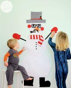 felt snowman dress-up.